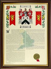 Framed Coat of Arms & Surname History Scroll