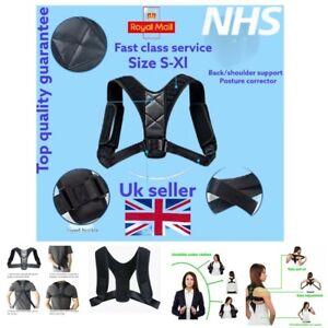 Back Support Brace Shoulder Body Belt Adjustable Posture Corrector Men Women Bad
