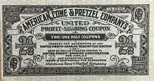 American Cone and Pretzel Company's - United Profit Sharing Coupon