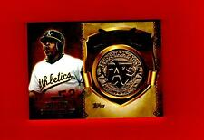 2015 TOPPS FIRST HOME RUN MEDALLIONS #FHRM-YC YOENIS CESPEDES OAKLAND ATHLETICS
