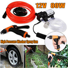 130PSI High Pressure Washer Spray Gun Car Electric Washer Auto Wash Pump Kit 12V