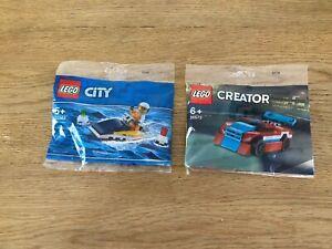 LEGO  30363 CITY Jet-Ski + Set 30572 Creator Car Polybag Brand New & Sealed