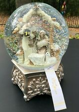 "NEW Nativity Musical Snow Globe Waterglobe Christmas - ""Silent Night"""