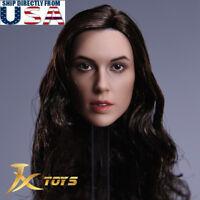 1/6 Female Head Sculpt C Gal Gadot Wonder Woman For Hot Toys Phicen Figure USA