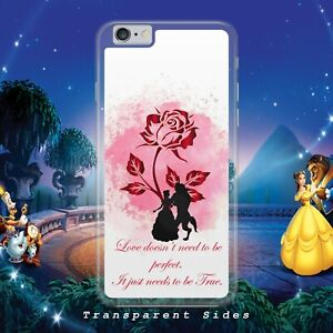 DISNEY BEAUTY AND  THE BEAST LOVE PHONE CASE COVER FOR IPHONE SAMSUNG HUAWEI