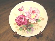 VINTAGE LUGENE'S JAPAN BEAUTIFUL HAND PAINTED FLOWER COLLECTIBLE PLATE