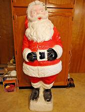 "RARE 55"" LIFE SIZE SANTA CLAUS CHRISTMAS BLOWMOLD LIGHT UP YARD DECOR SAINT NICK"