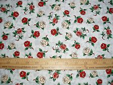 Cotton Fabric ED HARDY LOVE IS TRUE Flowers Roses True Love on GRAY  BTY