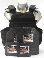 CATI AR500 Body Armor Black MOPC Carrier Level 3 FULL COAT PLATES 10X12 6X6