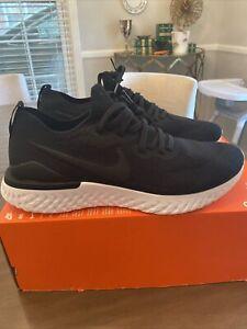 Nike Epic React Flyknit 2 Running Shoes Black/Black BQ8928-002 Men's Size 10