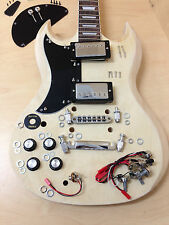 Left-handed SG Style Electric Guitar DIY Kits,Set Neck,No-Soldering.E-240DIY
