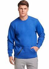 Russell Athletic Men's Cotton Rich Fleece Sweatshirt, Blue Heather, XS