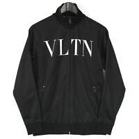 VALENTINO $1250 authentic VLTN logo zip front track jacket sweatshirt S NEW