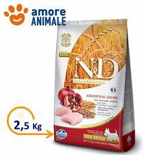 Farmina N&D Low Grain Adult Mini Pollo e Melograno da 2,5 Kg Crocchette cani