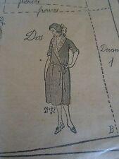 """PATRON ORIGINAL POUR LA POUPEE LISETTE  """"RAVISSANT PEIGNOIR  1922"""