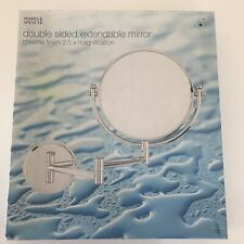 M&S Double sided extendable mirror chrome finish 2.5 x magnification