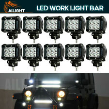 "10PCS 4"" Spot 18W Square LED WORK LIGHT BAR OFFROAD 4WD DRIVING LAMP 12V24V HL"