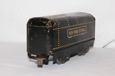 1940's Marx New York Central Tender, Yellow Rivets and Lettering, Original