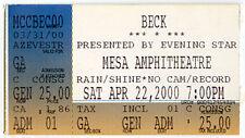 New listing Beck Concert Ticket Apr 22, 2000 Arizona Mesa Amphitheatre Mixed Bizness Tour