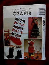 CHRISTMAS DECORATIONS/ MULTI  / CRAFTS/  PATTERN / MCCALLS # 4266  UNCUT