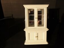 "DOLLHOUSE ""WHITE DISPLAY HUTCH"""