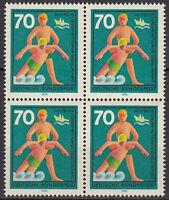 634 postfrisch 4 er Block BRD Bund Deutschland Briefmarke Jahrgang 1970