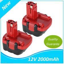2*Batterie pour Bosch Akkuschrauber PSR12VE-2 GSR12VE-2 PSB12VE-2  12V 2000mAh