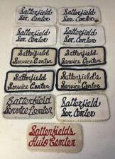 Vintage Patch Lot Satterfield Auto Service Center Mechanic Shop Garage Qty 11