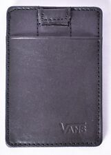 VANS Off the Wall Men's Black Eject Card Holder Leather Wallet (VN0A3HIOBLK) NEW