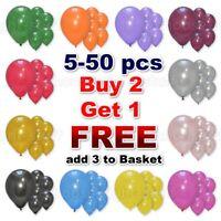 1- 50 Latex PLAIN BALOONS BALLONS helium BALLOONS Quality Party Birthday Wedding