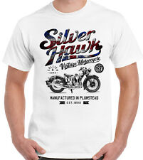 PLATA Hawk hombre camiseta Motocicleta MOTERO PERSONALIZADA Británico Union Jack