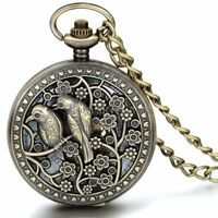 Vintage Lucky Bird Case Hand-winding Mechanical Arabic Numeral Dial Pocket Watch