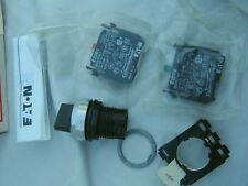 EATON E22X51C Selector Switch; 2 Positions; 22.5mm; BLACK Knob, COMPLETE