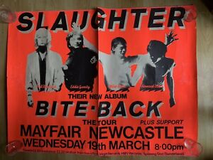 Slaughter & The Dogs (Slaughter) Bite Back Tour Poster Newcastle  1980 Punk