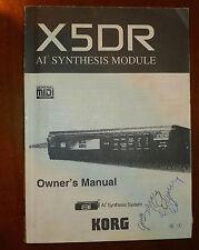 korg x5dr X5 DR original instruction owner's manual user's guide book