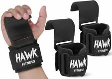 Weight Lifting Hooks Grips with Wrist Wraps & Straps Powerlifting Weightlifting