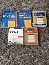 Lot Of It Books: Ccna, Network+,Security+,Python ,MySql