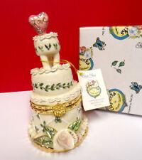 "Clayworks Wedding Cake ""Love"" Heather Goldminc Hinged Box Figurine"