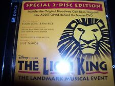 The Lion King (Original Broadway Cast Recording) (2-Disc Edition) CD DVD - NEW