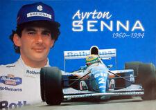 Vintage Original AYRTON SENNA 1960-1994 Formula One Racing Commemorative POSTER