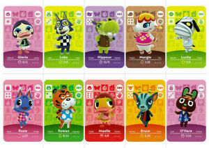 Series 4 301-400 GameCard Animal Crossing New Horizons Amiibo Card NS Switch 3DS