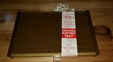 Vtg Electric Food Warming Warm Tray Party Hostess NEW OLD STOCK NOS 1982 wood