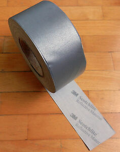 """Scotchlite 3M REFLECTIVE SEW ON TAPE 50 yards roll 2,55"""" or 65mm. W Silver"""