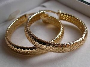 LOVELY 9ct Gold gf hoop earrings ALMOST SOLD OUT! FROM 9CT GOLD BLING 93