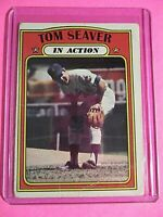 1972 Topps #448 IN ACTION Tom Seaver New York Mets  G Good (crease)