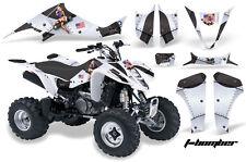 AMR Racing Suzuki LTZ 400 ATV Graphic Kit Wrap Quad Decals 2003-2008 TBOMBER WHT