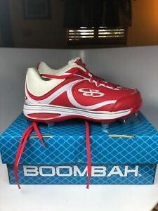 NEW Boombah Softball Cleats Womens Size 8 Red/White
