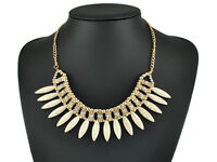 Chunky Choker Chain Necklace Crystal Flower New Women Fashion Bib Statement