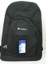 """New Black Everest School Backpack with Front and Side Pockets 17""""x 11"""" x 5"""" Bag"""