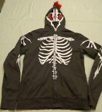Tony Hawk Hoodie Skeleton zipper full head XL skate fake fur trim